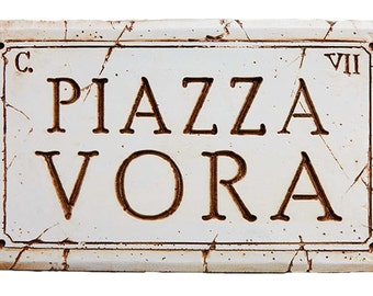 Custom Italian Name or Address Sign