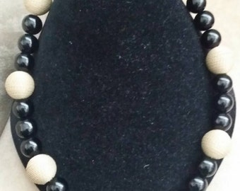 Black and Khaki Necklace