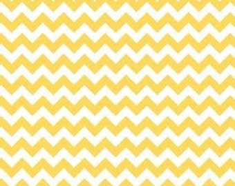 Riley Blake Cotton Small Chevron Yellow fabric by the yard