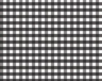 Riley Blake Cotton fabric by the yard... black and white gingham
