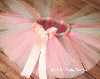 Pale pink and pale blue tutu-pink and blue Ballerina tutu-Tutu frozen inspired-Ballerina birthday-Ballerina party-Ballerina