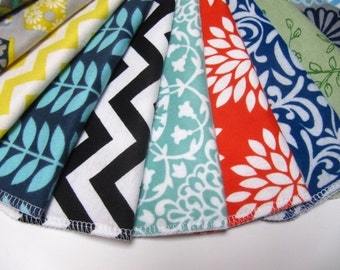 Cloth Napkins, Reusable Unpaper Napkins, Mod Mixed Set, Back To School Lunchbox Napkins