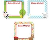 Write On Labels, Farm Babies