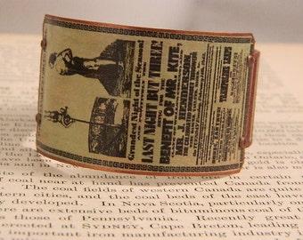 Circus bracelet Victorian circus poster Beatles Inspiration Mr. Kite mixed media jewelry