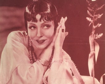 Vintage 1930s French MON FILM  Film MOVIE Magazine 1920s Vamp Flapper Starlet Burlesque Hollywood