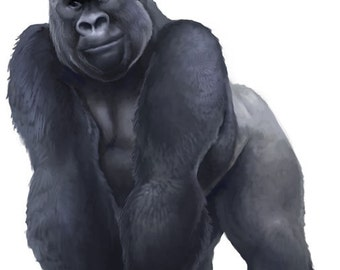 Large Gorilla Wall Decal
