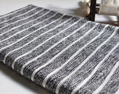 Turkish Towel Bamboo Peshtemal Towel Sprinkled Peshtemal Black Pure Soft