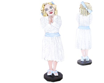 Bette Davis Whatever Happened to Baby Jane Hand Painted 2D Art Figurine