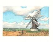 Catan Windmill Fine Art Print, Home Decor, Wall Art