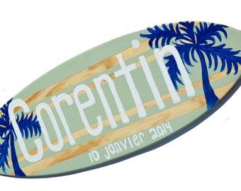 Beach Wedding Decor, Decorative Surfboard Couples Gift, Personalized Couple Beach Wedding Gift, Customized Surfboard Wedding Decorations