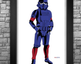 "STORM TROOPER ""New York Giants"" inspired art print. Available in 3 sizes!"