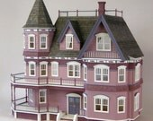 The Queen Anne Victorian Mansion,  Wooden Dollhouse Kit,  Scale One Inch