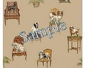 "Dollhouse Miniature Wallpaper, ""Fifi and Lola"", Scale One Inch"