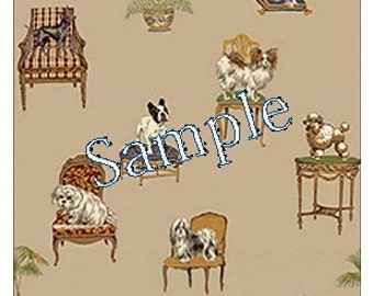 """Dollhouse Miniature Wallpaper, """"Fifi and Lola"""", Scale One Inch"""