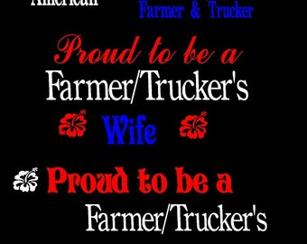 Proud to be an American Trucker Custom Decals