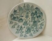 HOYRUP NYMOLLE Art Faience Danish Porcelain  Saucer LIMITED Edition 4006 Denmark
