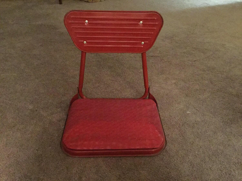 Metal Stadium Seats : Vintage metal folding stadium seat
