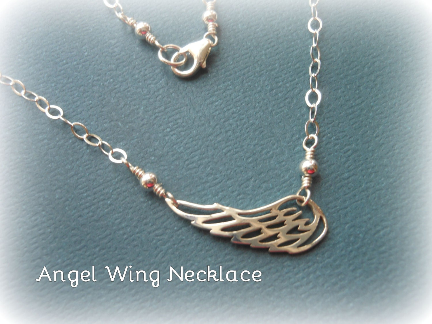 wing necklace sterling silver necklacelayering