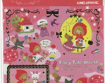 Little Red Riding Hood sticker - 1 sheet - Japan sitcker Le Petit Chaperon rouge Fairy tale story theme sticker sesal 44079