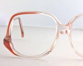 Vintage Oversized Melon Drop Arm Eyeglasses Frames
