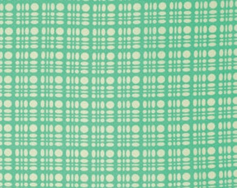 Clementine by Heather Bailey for Free Spirit - Dot Weave - Turquoise - 1/2 yard cotton quilt fabric