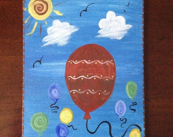 Whimsical Balloon in the Sky Painting