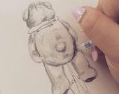 Bear Hug Sketch