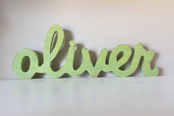 Wooden Letters Name Sign, Above a Crib, Nursery Decor, Guest Book Alternative