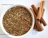 Cinnamon Spice Tea / Organic Rooibos Herbal Tea / Hand Blended / Loose Leaf