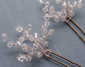 Pretty crystal sprig hairpin, bridal hairpin, crystal hairpin, wedding hairpin