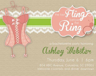 Last Fling Before the Ring invitation