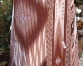 man's sarong 2 tone brown with diamond design MA6