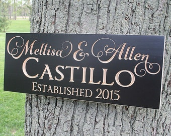 5th Anniversary Sign, Personalized Sign, Custom Wedding Sign, 5 Year Anniversary Gift, Engagement Date Sign, Benchmark Signs, Maple GV