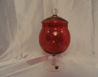 Cranberry Glass by West Virginia Glass, has 22  ct gold or luster sheen