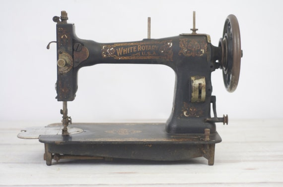 white sewing machine antique