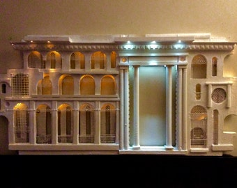 Original is Sold - Led Wall Sculpture City with Lights Cream Colour