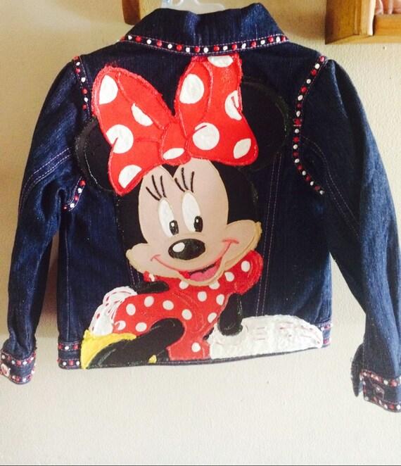 Veste en jean minnie mouse filles par preciousideas2 sur etsy - La petite boutique de minnie ...