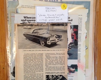 """Special Edition Vintage Paper Pack - """"trains, planes and mostly automobiles"""""""