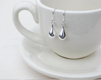 Sterling Silver Raindrop Earrings - Sterling Silver