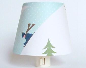 Winter Decoration - White Christmas Night Light - Country Christmas Decor - Kids Winter Wonderland - Rustic Country Cottage Decor