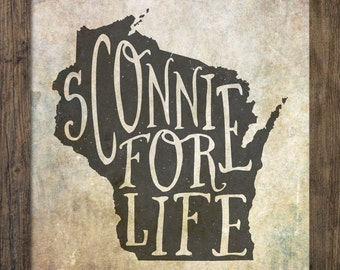 Sconnie for Life - Typography Print