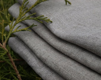 "Linen Kitchen Towels Set of 4 20""x27"" Organic Linen Natural Grey Washed Vintage Look"