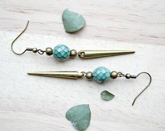 Long Spear Earrings / Boho Inspired / Dangle Earrings, - T121