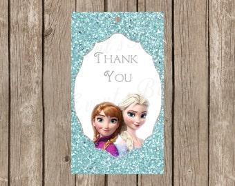 Frozen Favor Tags Instant Download Anna Elsa