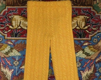 RePurposed Wool Longies / Pants - Cable Knit Longies - Size 3T Longies / Pants