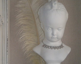 SALE....Spectacular Large Vintage French  Marie Antoinette Style Bust, French, French Country, Large Bust