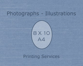 Any 8 X 10 or 8 X 12 (A4) Print - Fine Art Photograph / Custom Printing / Artist's Printing Services / Archival Printing / Ancestry Printing