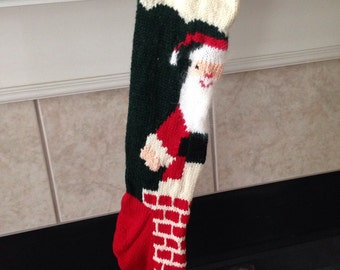 2017 Christmas Personalized Hand Knitted Christmas Stocking