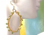 Wire Wrap Hoop Earrings Vinezia Crystals