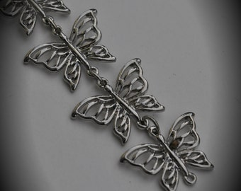 5 Inch Silver Butterfly Chain